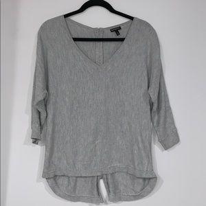 Express Gray v neck sweater